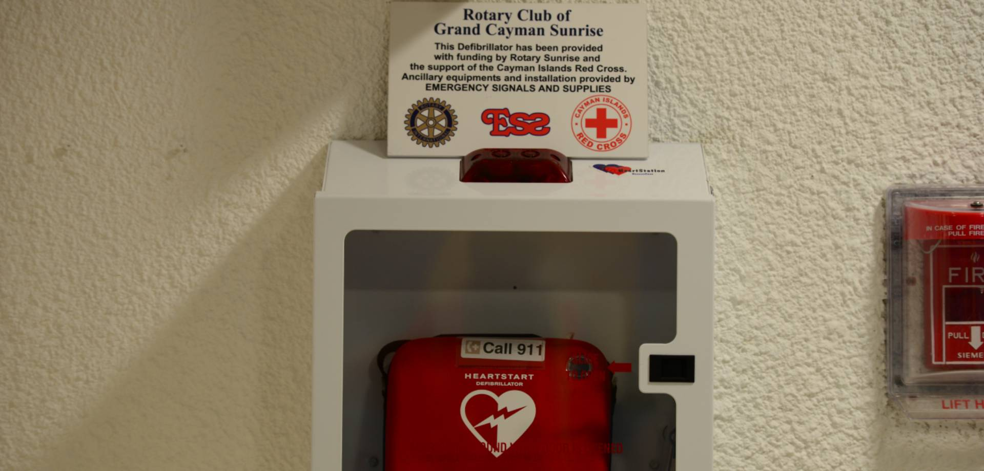 First Aid and Location of Defibrillators